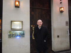 Paul M Wright outside Hix Soho restaurant, London (The Wright Archive) Tags: street uk england london paul restaurant famous soho m writer wright 6670 author brewer hix markhix w1f9up paulmwright