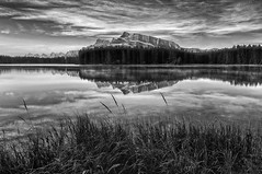 Dawn Breaks at Two Jack (Jeff Clow) Tags: jeffrclow jeffclowphototours banffphototour banffnationalpark twojacklake mountrundle albertacanada nikond800