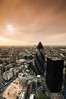 Sunrise over the Gherkin (5ERG10) Tags: city uk morning roof england sky building london tower sergio thames skyline architecture modern sunrise buildings river lights site construction nikon europe skyscrapers floor angle top wide landmarks cranes normanfoster londra tower42 natwest d300 amiti 5erg10