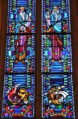 Montdidier (Somme) - Eglise du Saint-Spulcre - Vitrail du choeur de Jacques Gruber, 1939 (Morio60) Tags: gruber vitrail 80 glise picardie vitraux somme montdidier saintspulcre