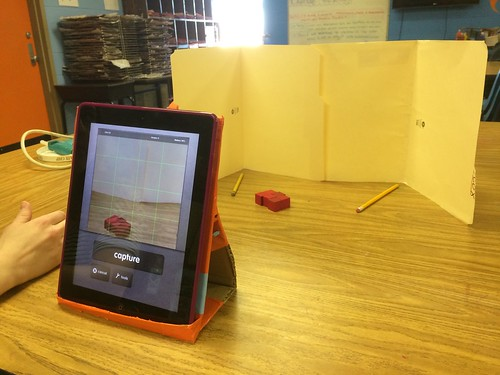 Homemade iPad Stopmotion Stand by Wesley Fryer, on Flickr