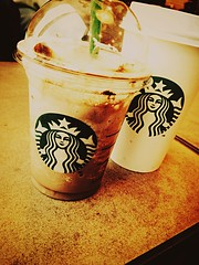 I love Starbucks it's so nice. But... It's a little to expensive I mean your looking at a 450ml cup of smashed ice and flavouring for like 5.70. Bu other then that yum #love #starbucks #friends #young #dreamjob (jellys69) Tags: friends love young starbucks dreamjob