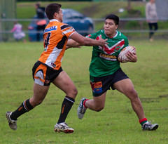 Helensburgh V Corrimal 26-4-14 (7) (Peebs66) Tags: new sport wales canon eos coast football action rugby south sigma australia tigers f28 league wollongong helensburgh cougars 70200mm illawarra corrimal 50d