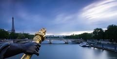 Pont Alexandre III (Sylvayre) Tags: blue paris seine long exposure iii hour nd alexandre brigde gnd