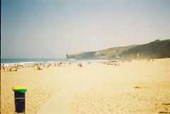 Ultimos banhos e sestas (vivitarexperiencias) Tags: ocean sea summer mer hot film praia beach portugal mar sand areia sommer verano vivitar plage aljezur analogica ete verao monteclerigo