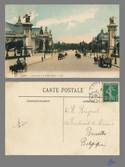 PARIS - Le Grand et le Petit Palais - LL (bDom) Tags: paris 1900 oldpostcard cartepostale bdom