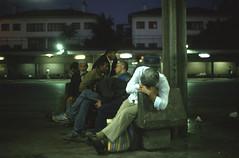 night at the bus terminal Ankara / Turkey 1989 (Linsenshmied) Tags: turkey sleep ankara