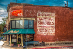 olde tymer's (cherryspicks) Tags: building architecture cafe advertisement durango hdr oldwest oldetymerscafe