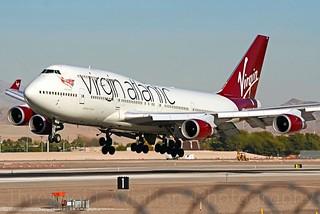 G-VXLG | Virgin Atlantic | 747-41R | KLAS