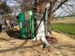Bus Crash (mokhuss) Tags: trees fish nature beautiful sunrise cattle market mosque sylhet bangladesh masjid desh