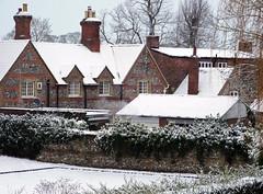 Aston Rowant, Oxfordshire (Oxfordshire Churches) Tags: astonrowant oxfordshire panasonic lumixgh3 mft microfourthirds micro43 england uk unitedkingdom ©johnward snow snow2015 cottages chimneys explore explored inexplore