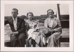 On the river (Boobook48) Tags: bridge england train river 1930s mysnapsalbum