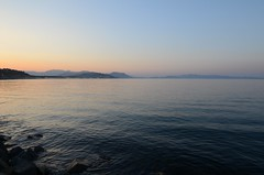 Sunset from the pier (multituba) Tags: northkorea dprk