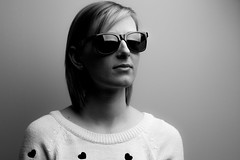 "Csiby (Ibi Szabo"") Tags: portrait bw girl sunglass speedlight softbox strobe 100mm28macro canon6d canon430exii"