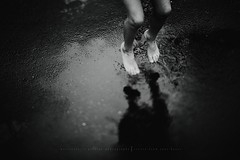 Jump.. (privizzinis passion photography) Tags: summer people blackandwhite feet water girl monochrome rain childhood kids children fun puddle outside outdoors happy jump child play outdoor joy freelensed