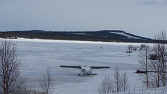 Plane on Lake Inari (Soresha) Tags: aircraft frozenlake