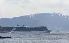 Celebrity Eclipse og Lote (sindre97) Tags: mountain celebrity norway eclipse boat norge ship vessel fjord skip fsf bt fjell lesund sunnmre lote fjord1 farty celebrityeclipse