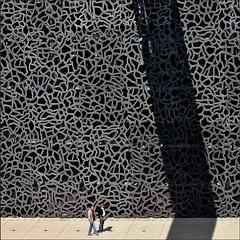. (me*voil) Tags: shadow museum facade marseille diagonal mucem shadowofawalkwaybridge