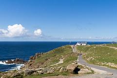 Lands End (Tangoman11) Tags: ocean blue sea england sky nature water coast scenery cornwall britain outdoor cliffs atlantic landsend distance footpath lanscape
