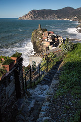 Vernazza-Trail to Corniglia (cheryl strahl) Tags: italy europe surf waves village crash cinqueterre vernazza picturesque breakwater