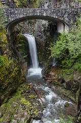 Christine falls WA (kristenroome) Tags: mtrainier bridge waterfall nature christinefalls