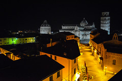 Pisa at Night 2 (chriswalts) Tags: travel sunset italy streets tower night pisa leaning