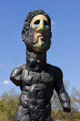 Rock Hard (Five Second Rule) Tags: sculpture man berlin stone germany may classical blueskies 2016 paintedface museumisland