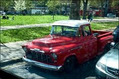 Green pick-up - DSCF0718a (normko) Tags: wood green london chevrolet truck bush pickup chevy lane w12 3100 shepherds hydramatic