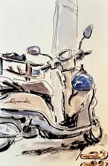 Shoes and Bike (jwinstead) Tags: pen ink watercolor sketch brushpen