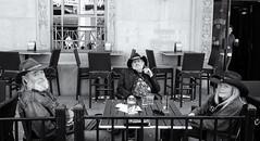 The Posse (Sherlock77 (James)) Tags: people woman man calgary pub downtown streetportrait stephenavenue