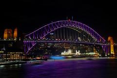 Harbour Bridge during Vivid (Mark Harris photography) Tags: night canon harbor sydney vivid 5d harborbridge 2016
