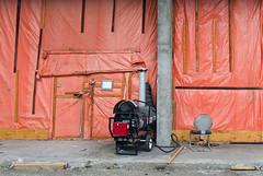 Orange Wall (geowelch) Tags: toronto construction etobicoke urbanlandscape urbanfragments fujifilmx10