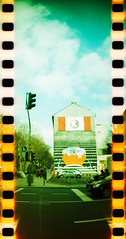 Sprocket Rocket in Cologne (somekeepsakes) Tags: streetart film analog germany deutschland lomo xpro crossprocessed mural europa europe cologne kln lightleak urbanart analogue 2012 sprockets perforation lichteinfall sprocketrocket lomographyxpro200 cityleaks cityleaksfestival cityleaksurbanartfestival
