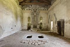 No Bones About It (earthmagnified) Tags: urban abandoned church choir skeleton cross decay exploring explorer altar chiesa nave bones vault exploration crypt abandonment sanctuary crumbling urbex