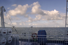Maritime blues (IngeHG) Tags: ferry thenetherlands northsea dfds windturbinefarmatsea