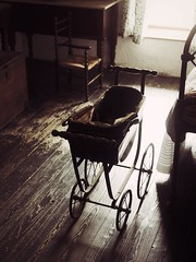 Old Pram (Feldore) Tags: old ireland house museum sepia vintage bedroom child folk traditional victorian olympus spooky northern mchugh pram em1 cultra crepy 1240mm feldore