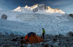 Jaqusiri Base Camp (Pietro Sella) Tags: landscape bolivia glacier andes paesaggio tenda carpa ghiacciaio cordillerareal andinismo chachacomani ferrino westface alpinisimo jaqusiri enricorosso