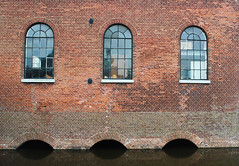 The Mills of Kinderdijk, Holland (meganejay) Tags: travel windows holland reflection brick water netherlands europe study abroad kinderdijk