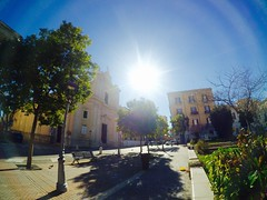 Power of sun. (francescoquerques) Tags: italy sun church nature europe wide grandangolo yi foggia xiaomi