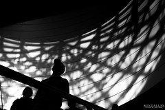 Light and shadow wings (Kindallas) Tags: silhouette black white shadow light metro subway wings people men wall sun indoor são paulo brazil brasil estação da luz station 50mm 50 mm t5 canon