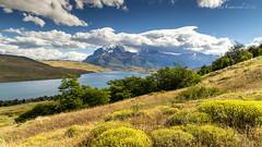 Torres del paine (kikerencoret) Tags: travel blue sky mountain lake mountains clouds river landscapes lakes kikerencoret