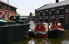 Boats In A Basin. (Neil Harvey 156) Tags: canal barge canalbarge ellesmereport bigmere ellesmereportboatmuseum nationalwaterwaysmuseum dumbbarge