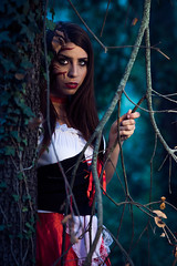 Little Red Riding Hood (Victor T..) Tags: red night costume model day photoshoot little makeup riding littleredridinghood hood shooting mua dayfornight