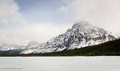 Frozen Alberta (Witty nickname) Tags: trees sky mountain lake snow mountains cold ice nature clouds landscape spring jasper roadtrip alberta banff chilly jaspernationalpark d800 banffnationalpark 2470mm albertalandscape nikkor2470mmf28 nikond800