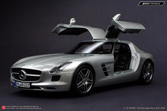 Mercedes Benz SLS AMG (JOJO BEE - DIECASTCARSGROUP) Tags: scale sports car metal silver mercedes benz model super replica hyper v8 sls amg 118 gullwing diecast 2door gullwingdoors norev 2seat mercedesbenzslsamg 118norevhq