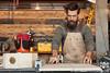 Stephen 1 (TravisHaight) Tags: california wood portrait shop canon beard la saw losangeles cut working overalls worker woodworking woodshop safetyglasses stephenandrews travishaight travishaightphotography