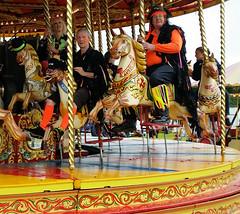 2016-06-12 | 15 | Borderline on galloper  Stoke Row Steam Rally (Mark & Naomi Iliff) Tags: borderlinemorris borderline morris stokerow steamrally galloper merrygoround carousel steam carterssteamfair