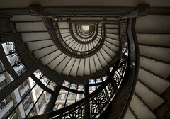 Light Tube... (JH Images.co.uk) Tags: chicago rookery staircase oval looking up hdr dri architecture stairs windows