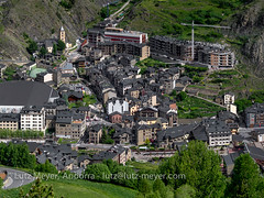 Andorra living: Carrer Major, historic center, Placa Montaup & Placa Carlemany. Canillo, Vall d'Orient, Andorra (lutzmeyer) Tags: pictures above history primavera june juni sunrise photography spring europe photos pics images historic fotos stadt sonnenaufgang junio oben historia andorra bilder imagen pyrenees springtime iberia frühling historie pirineos pirineus iberianpeninsula geschichte juny pyrenäen ontop imatges frühjahr fromtop ortschaft canillo historiccentre iberischehalbinsel historischeszentrum sortidadelsol mfmediumformat canillocity lutzmeyer lutzlutzmeyercom canillovalldorient carreteradelforncs251 rutaciclista01elforn