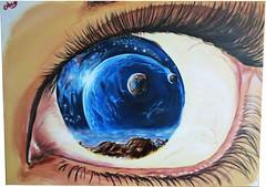 La visione (Artlynow galleria d'arte) Tags: quadro occhio artista pittura dipinto visione quadroastratto quadroolio angeloromani